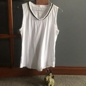 Bass Sleeveless Sequined Cotton TShirt-MED